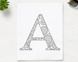 the letter a coloring page sale printable alphabet coloring page letter n floral pattern