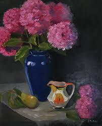The Blue Vase Grace Mckee Fine Art Still Life