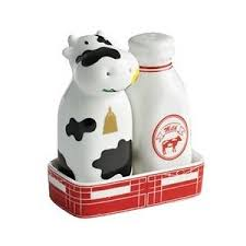cow milk salt pepper shaker set polyvore