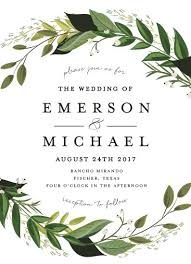 wedding invitations greenery wedding invitations vines of green by susan moyal wedding
