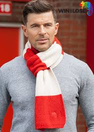 buy win or lose merino wool scarf red white bar online at uk tights