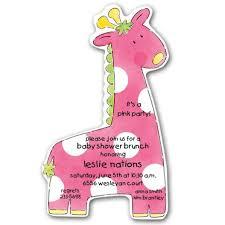 giraffe baby shower decorations baby shower giraffe girl diecut invitations paperstyle