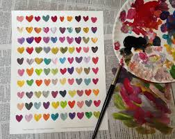 heart decorations home color mixing teachkidsart valentine e2 80 93 paint 100 hearts