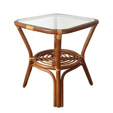 Rattan And Glass Coffee Table by Square Small Coffee Table Helena Color Light Brown With Glass Top