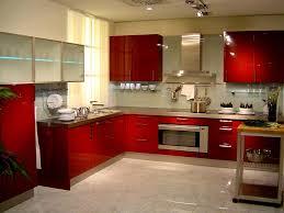 Red Kitchen White Cabinets Red Kitchen Walls White Cabinets Monsterlune