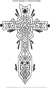 celtic cross design 2 coloring page http www kidscanhavefun com