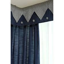 Blue Plaid Curtains Blue Plaid Print Linen Cotton Blend Bay Window Curtains Without