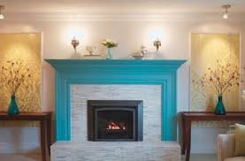 dazzling paint colors with brick fireplace and ceramic subway tile
