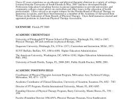 physical therapy resume examples cv resume ideas