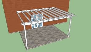 Pergola Blueprints Free by Attached Pergola Plans Howtospecialist How To Build Step By