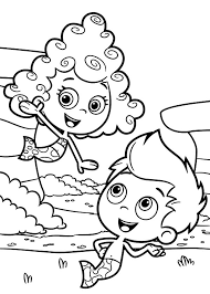 gil meet deema bubble guppies colouring happy colouring
