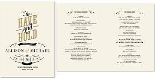 wedding day program wedding ceremony agenda wedding gallery