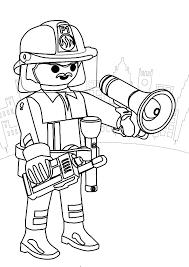 Coloriage Playmobil Pompier a Imprimer Gratuit