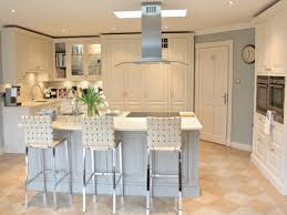 modern country kitchen lighting with white table bar and white