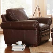Ralph Lauren Armchair Yosemite Leather Sofa Loveseat U0026 Chair Set Akron Chestnut