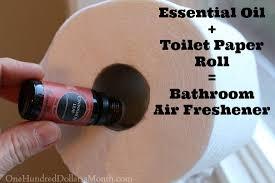 Bathroom Air Fresheners Easy Houshold Tip Essential Oil Toilet Paper Roll U003d Bathroom