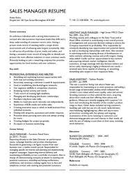 Resume Examples For Sales by Retail Sales Manager Resume Samples Free Resumes Tips