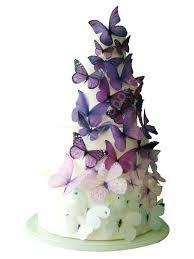 Purple Butterfly Decorations Wedding Cake Topper Edible Cake Topper Ombre Edible Butterflies