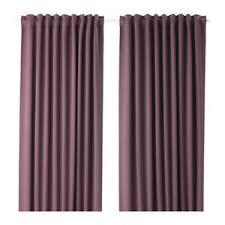 Lilac Curtains Ikea Majgull Blackout Curtains 1 Pair Lilac 003 467 56 Ebay
