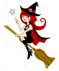 halloween witch isolated on white royalty free cliparts vectors