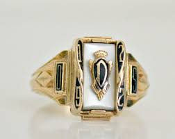 highschool class rings vintage gold class ring etsy