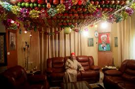 Jewish Decorations Home Mount Gerizim West Bank In The West Bank Samaritans Provide A