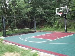 Backyard Basketball Hoops by Boston Backyard Basketball Court Landscape Traditional With