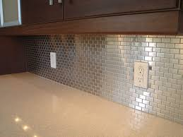 Subway Tile Backsplash Ideas For The Kitchen Stainless Steel Backsplash Tiles Ideas U2014 New Basement And Tile Ideas