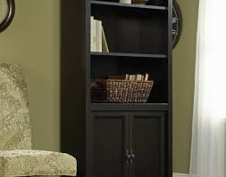 Sauder 4 Shelf Bookcase Shelf Black Bookcase With Doors Bookshelves Sauder Edge Water
