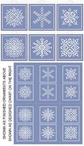 snowflakes 6 ornament set cross stitch pattern ornaments