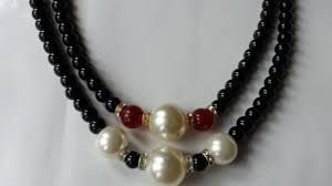 how to make simple mixed bead necklace diy crafts tutorial