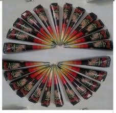 45 gm dark brown henna cones paste 6 pc temporary tattoo kit body