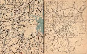 Map Of Boston Area Historic Massachusetts Maps