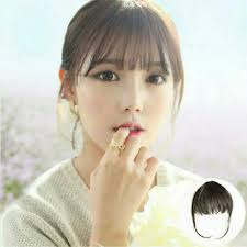 clip on bangs clip on korean see through bangs women s fashion on carousell