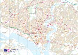 Hampshire England Map by Ordnance Survey Blog Mapping The Southampton Blitz 70 Years On