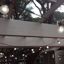 String Of Patio Lights Touch Of Eco Socialite 20 Ft Solar Led Edison Patio String Lights