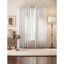 White Lined Curtains Home Decorators Collection Semi Opaque Monaco White Thermal Foam