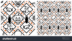 the background of halloween seamless halloween pattern on transparent background stock vector