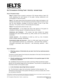 ielts academic writing task 1 activity answer keys page 1