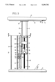 Telescoping Desk Patent Us5289782 Adjustable Height Table Google Patents