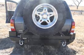 1998 jeep grand bumper rock 4x4 8482 patriot series rear bumper w tire carrier