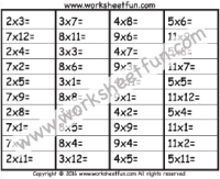 multiplication 1 digit free printable worksheets u2013 worksheetfun