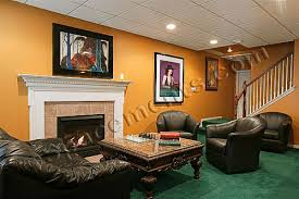 pa finished basement photo sitting room fireplace collegeville