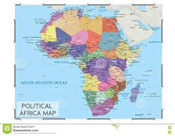 Africa Map With Capitals by Political Africa Map Stock Vector Image 80890377