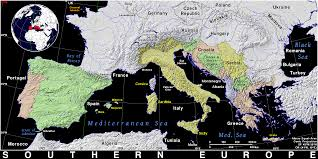 Southern Europe Map Southern Europe Public Domain Maps By Pat The Free Open Source