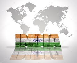 India On A Map by Word India On A World Map Background U2014 Stock Photo Ruletkka