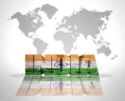 India On A Map word india on a world map background u2014 stock photo ruletkka