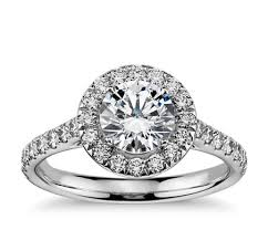 gold diamond engagement rings halo diamond engagement ring in 14k white gold 1 2 ct tw