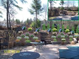 Slope Landscaping Ideas For Backyards Front Yard Landscaping Ideas On A Slope Images Of Backyard