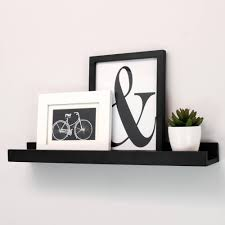 Hanging Pictures On Wall by Floating Wall Shelves